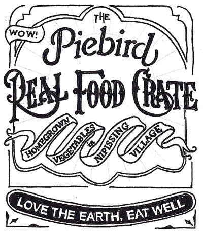 Piebird Real Food Crate - produce